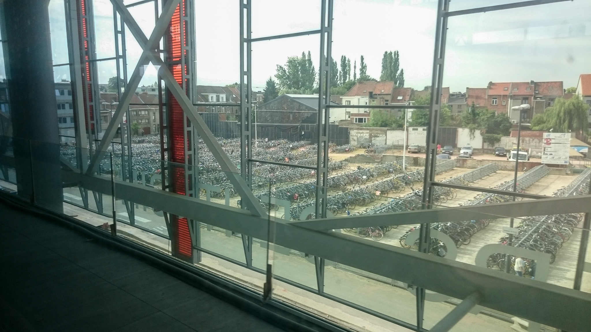 Bike parking in Gent
